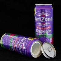 Arizona Grapeade Diversion Safe Can Container+Free Pack of 1 1/4 Rasta Wrap