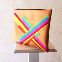Pop Art Clutch Bag - Ipad case - multicolor clutch by Pitti Vintage - holiday gift idea - gift for her