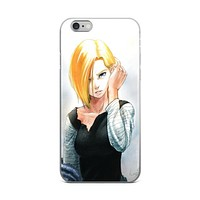 Android 18 Painting Dragon Ball Z iPhone 4 4s 5 5s 5C 6 6s 6 Plus 6s Plus 7 & 7 Plus Case