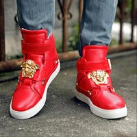 Versace autumn and winter couple models high-top shoes shoes sports trend casual shoes