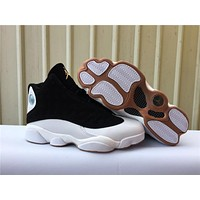 Air Jordan 13 Retro Black/white/gold | Best Online Sale