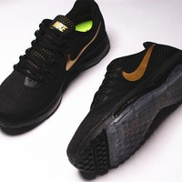 nike zoom all out low 3/4 Zoom Air max Black&Gold 878670-007