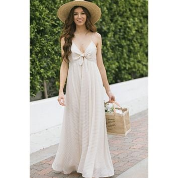 Kaitlyn Front Tie Maxi Dress