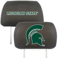 Michigan State Spartans NCAA Polyester Head Rest Cover (2 Pack)