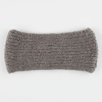 Sweater Knit Headwrap Grey One Size For Women 26408211501