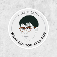 "Rushmore Sticker - Max Fischer ""I Saved Latin"" jason schwartzman, wes anderson, bill murray"