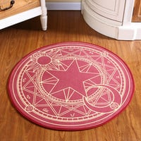 Kids Bedroom Carpet Cartoon Pink Sakura Magic Circle Children Round Play Carpet Computer Chair Hanging Basket Puzzle Mats