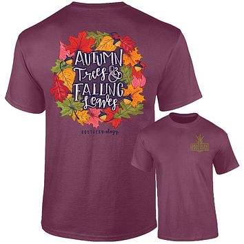 Southernology Autumn Leaves Fall Comfort Colors T-Shirt