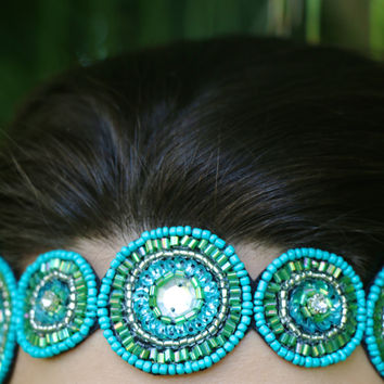 Rivers & Roads Headband in Turquoise