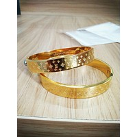 LV Louis Vuitton Fashion Trending Couple Stainless Steel Bracelet For Women Men G