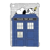 DiyCaseStore Snoopy Lie the Tardis Police Box Ipad Mini Best Durable Cover Case Christmas Gift Idea