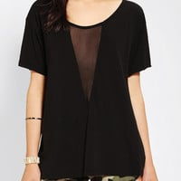 Urban Outfitters - Truly Madly Deeply Mesh-Center Tee