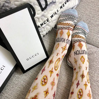 Louis Vuitton LV Graffiti Lurex Socks
