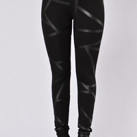 In Every Direction Ponte Pants - Black