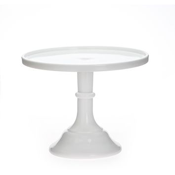 White Milk Glass Cake Stand, milk glass cake platter, white cake stand