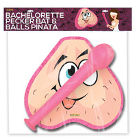 Bachelorette Party Pecker Bat W-balls Pinata