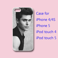 iphone 5 Case,iPhone 4  case --Zac Efron , in durable black or white plastic or silicone for both iphone 4 and iphone 5