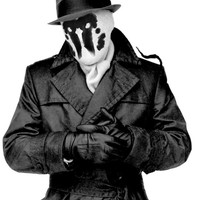 Moving Inkblot Rorschach Mask from Watchmen