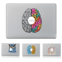 Left and right brain Dreamcatcher Vinyl Decal Laptop Sticker for macbook Pro Air 13 inch Cartoon laptop Skin shell for mac book