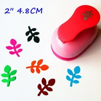 free shipping 2 inch (about 4.8cm) leaf design of craft punch eva foam maker paper punches for scrapbooking