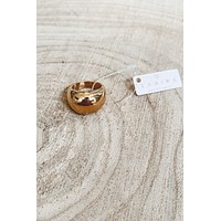 SAHIRA 18k Gold Dome Ring