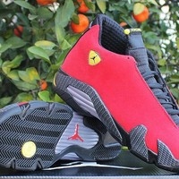 Air Jordan 14 Retro Aj14 Red Ferrari Sport Shoe