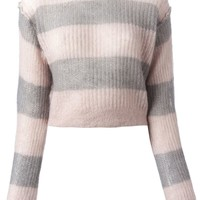 MM6 By Maison Martin Margiela striped cropped sweater