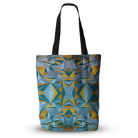 """Nika Martinez """"Abstraction Blue & Gold"""" Everything Tote Bag"""