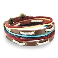 Gift New Arrival Great Deal Awesome Stylish Shiny Hot Sale Leather Strong Character Rivet Men Ring Accessory Bracelet [6526728387]
