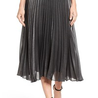 Halogen® Pleated Lurex® Midi Skirt (Regular & Petite) | Nordstrom