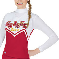 """Double Knit """"M"""" Cheer Uniform Shell Top"""