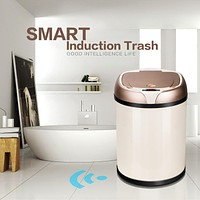 Automatic Trash Bin Stainless Steel Kitchen Sensor Waste Can 6-8L