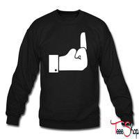 Like Middle Finge crewneck sweatshirt