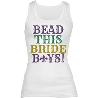 Customizable Mardi Gras Bride Bachelorette at Bridal Party Tees