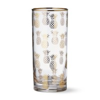 Gold Pineapple Highball Glass