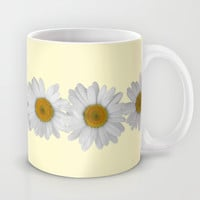 Daisy Chains on Pastel Yellow Mug by Tangerine-Tane