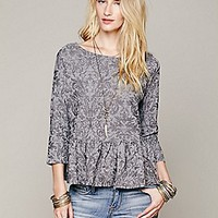 Free People  Textured Boxy Peplum Top at Free People Clothing Boutique