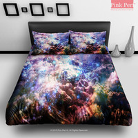Colorful Galaxy Cloud Bedding sets Home & Living Wedding Gifts Wedding Idea Twin Full Queen King Quilt Cover Duvet Cover Flat Sheet Pillowcase Pillow Cover 027