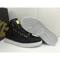 Air Jordan 1 Pinnacle 24K Black Gold Shoes 40-47