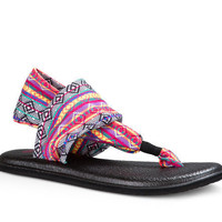 Sanuk Yoga Sling 2 Prints Magenta Multi Tribal Stripe Sandals