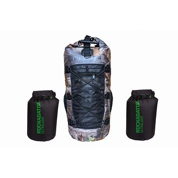 Bundle Special Kanarra 90L CAMO Waterproof Backpack and 2 Ultralight Dry Bags