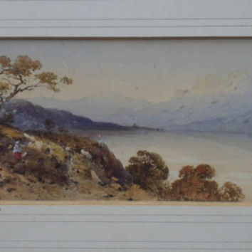 Watercolour painting - Landscape by Edwin Aaron Penley (1815 - 1870). Wonderful lakeland landscape by noted Victorian 19th century artist