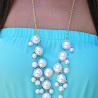 The Pearl Crew Necklace: Gold | Hope's
