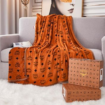 MCM Fendi GUCCI DIOR  LV Louis Vuitton Hot Sale Full Printed Retro Blanket D Home Coral Fleece Thickening Blanket Adult Single Bed Blanket