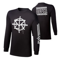 "Seth Rollins ""Redesign, Rebuild, Reclaim"" Long Sleeve T-Shirt"