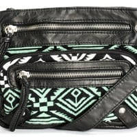 T-Shirt & Jeans Shelly Mint Tribal Purse