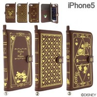 Strapya World : Disney Character Old Book iPhone 5 Case (Mickey & Minnie)