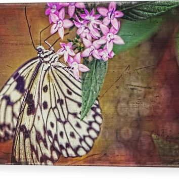 Butterfly Art - Hanging On - By Sharon Cummings Wood Print