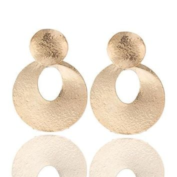 Club Stylish Punk Metal Earring Accessory Earrings [6058267201]