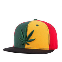 High Quality Adjustable WEED Flat Cap Men Women Outdoor Sports Street Skateboard